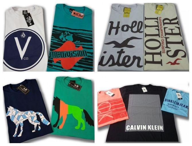 Kit 20 Camisetas Camisas Masculina Atacado Baratas Blusas - R  379 ... d3e81a33f94b9