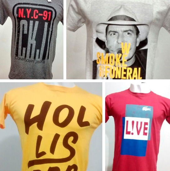 02889ed38e1 Kit 20 Camisetas Camisas Masculinas Baratas Marcas Famosas - R  278 ...
