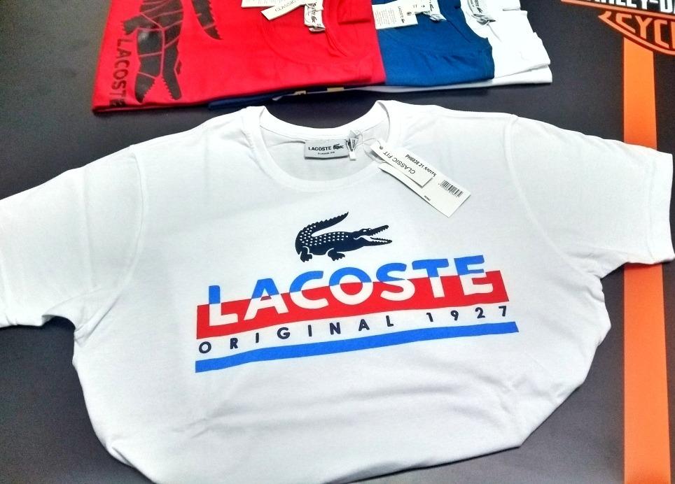 ccde60f0f9 kit 20 camisetas lacoste estampadas frete gratis. Carregando zoom.