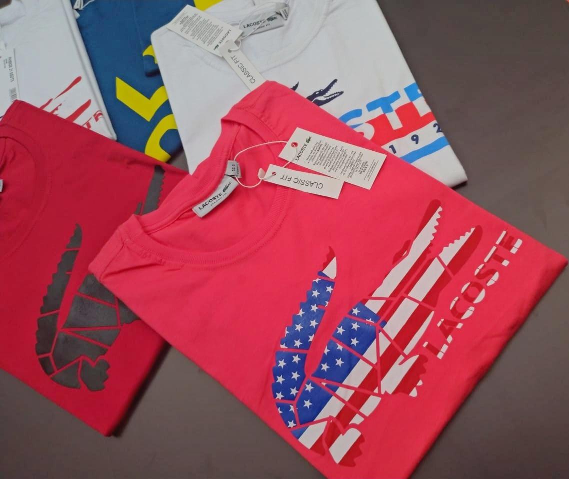 Kit 20 Camisetas Lacoste Estampadas Frete Gratis - R  791,00 em ... aee9e66b57