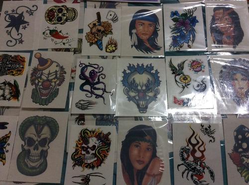 kit 20 cartelas de tatuagem temporária sortidas