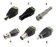 kit 20 conector adaptador plug borne p4 rca bnc macho femea