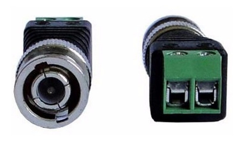 kit 20 conector bnc macho com borne para cftv