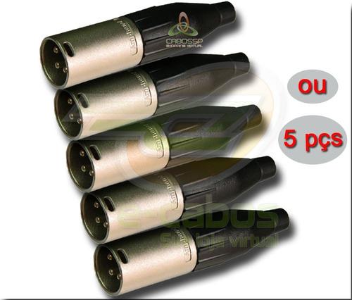 kit 20 conectores da amphenol xlr (macho/femea) ac3f/ac3mm