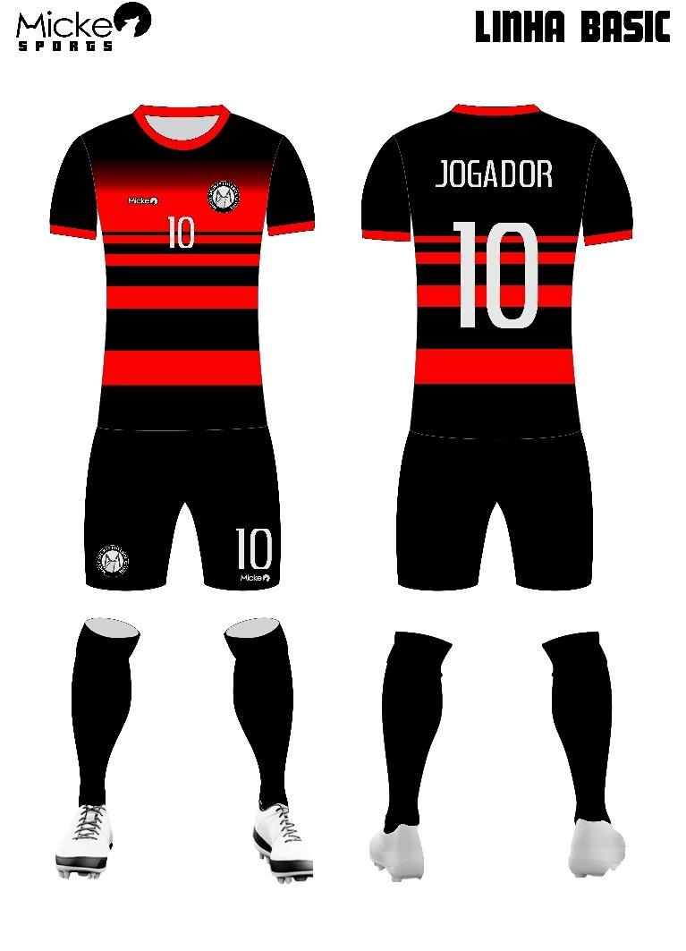 3c7aedae4075f Kit 20 Conjuntos Uniforme De Futebol Personalizado Dry Fit - R ...