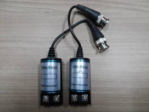 kit 20 conversor par video balun alcance 400/600m p/ cftv