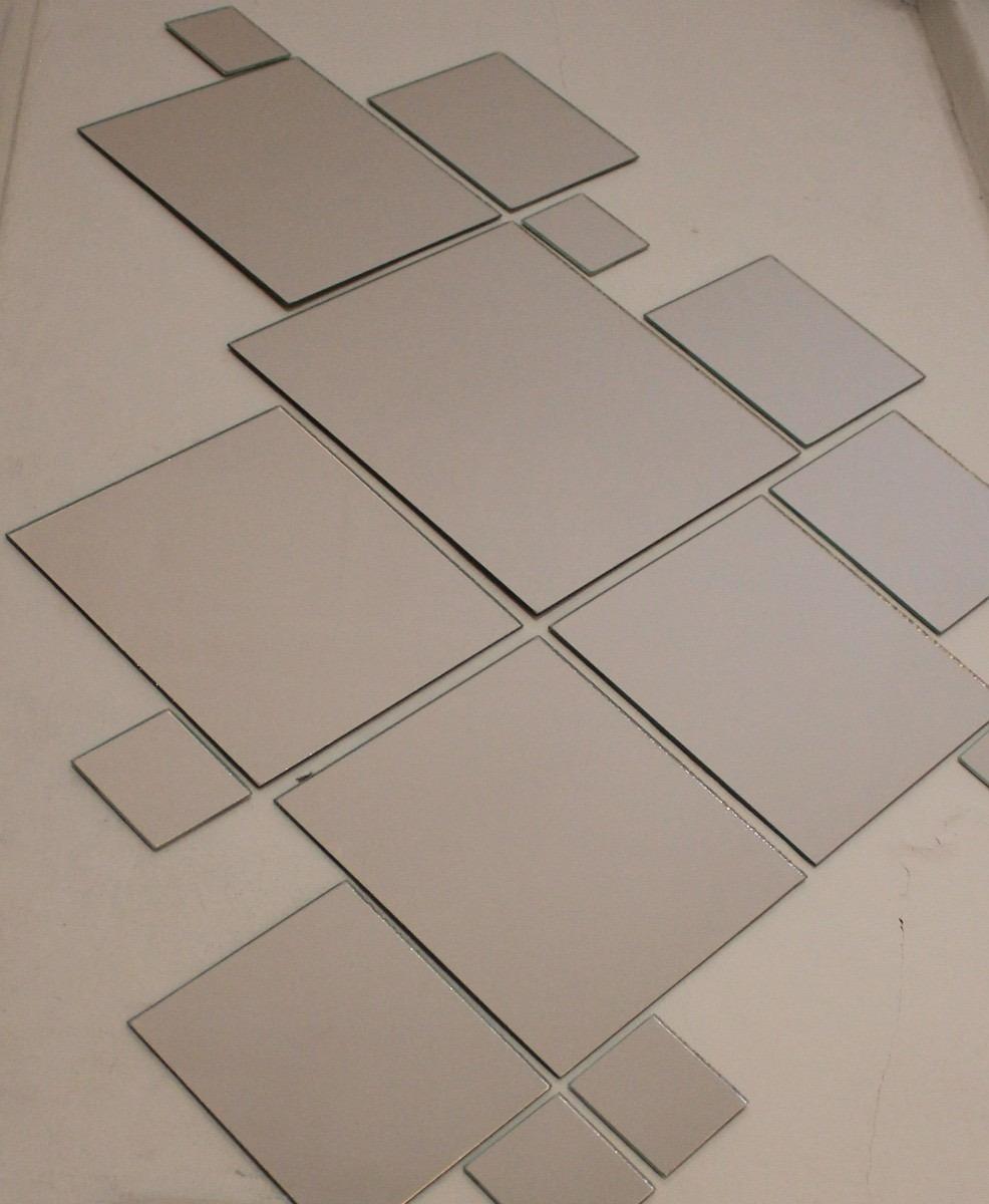 Kit 20 espejos redondos o cuadrados ba o living comedor for Espejos cuadrados