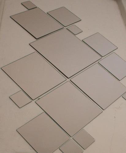 kit 20 espejos redondos o cuadrados baño, living, comedor