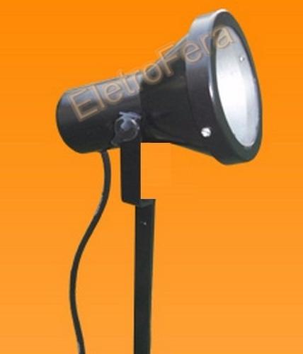 kit 20 espeto projetor para jardim com lâmpada led 5w b frio