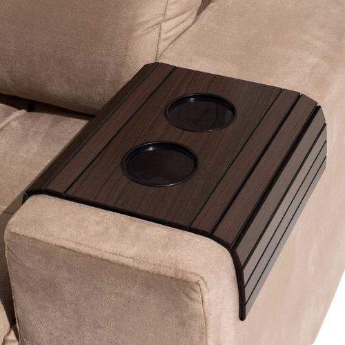 kit 20 esteiras sofá tabaco porta copos atacado