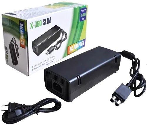 kit 20 fonte para xbox 360 slim 110v 220v 135w cabo energia