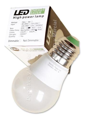 kit 20 lamparas efficient led 7w = 60 watss bulbo  ahorro