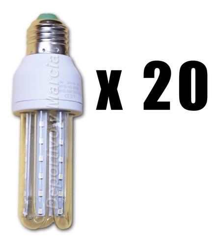 kit 20 lamparas tubos efficient led 7w = 60 watts leds kit