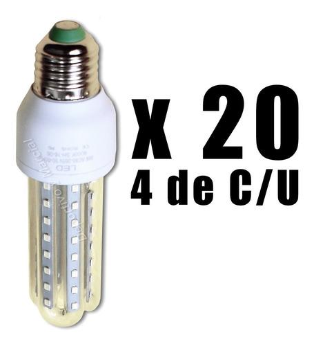 kit 20 lamparas variadas 4 c/u led 5w 7w 9w 12w 16w cuotas