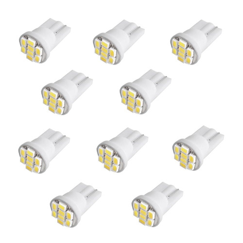 kit 20 lâmpadas t10 8 led branco 5000k frete esedex gratis