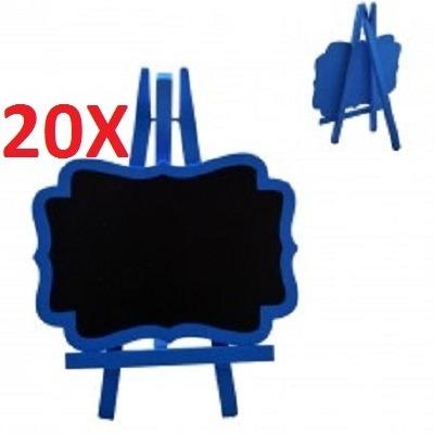kit 20 lousa quadro negro em madeira porta recados com caval