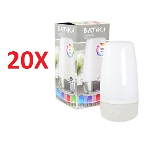 kit 20 luminaria led luz noturna abajur 7 cores furta cor