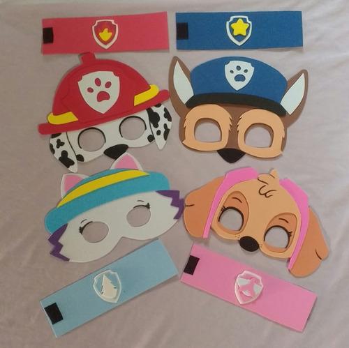kit 20 máscaras + 20 capas + 20 braceletes patrulha c eva