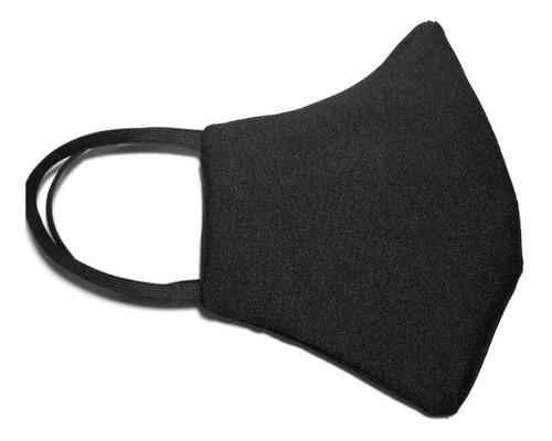 kit 20 máscaras de tecido duplo preto