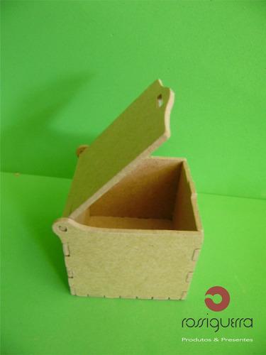kit 20 mini caixa, mdf crú