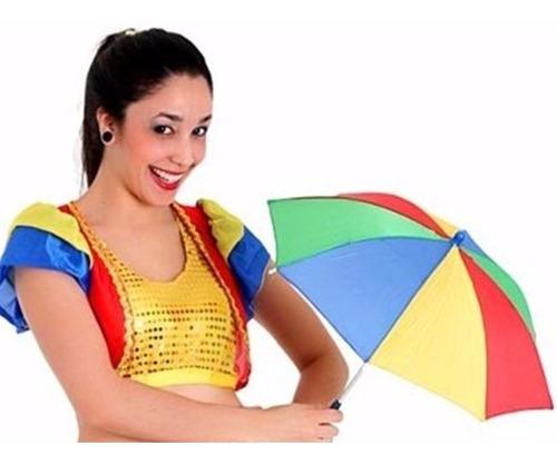 kit 20 mini sombrinha frevo enfeites festa carnaval aeio@
