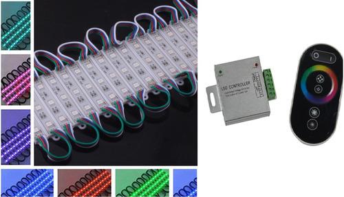 kit 20 módulos 3x 5050 ultrabrillante+ controlador táctil rf