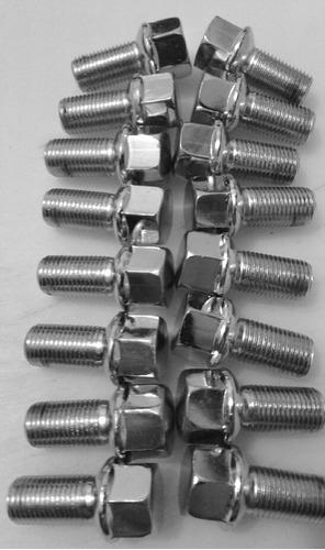 kit 20 parafusos fusca e kombi cromado roda liga leve