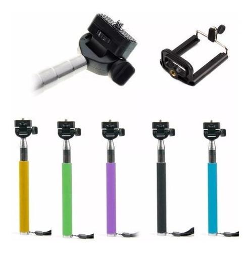 kit 20 pau de selfie monopod bastão retrátil suporte celular