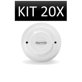 Kit 20 Peças - Detector De Fumaça Convencional Segurimax