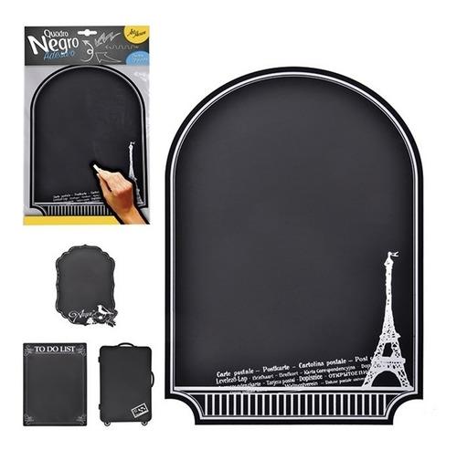 kit 20 quadro negro adesivo mural de recados lousa de aviso