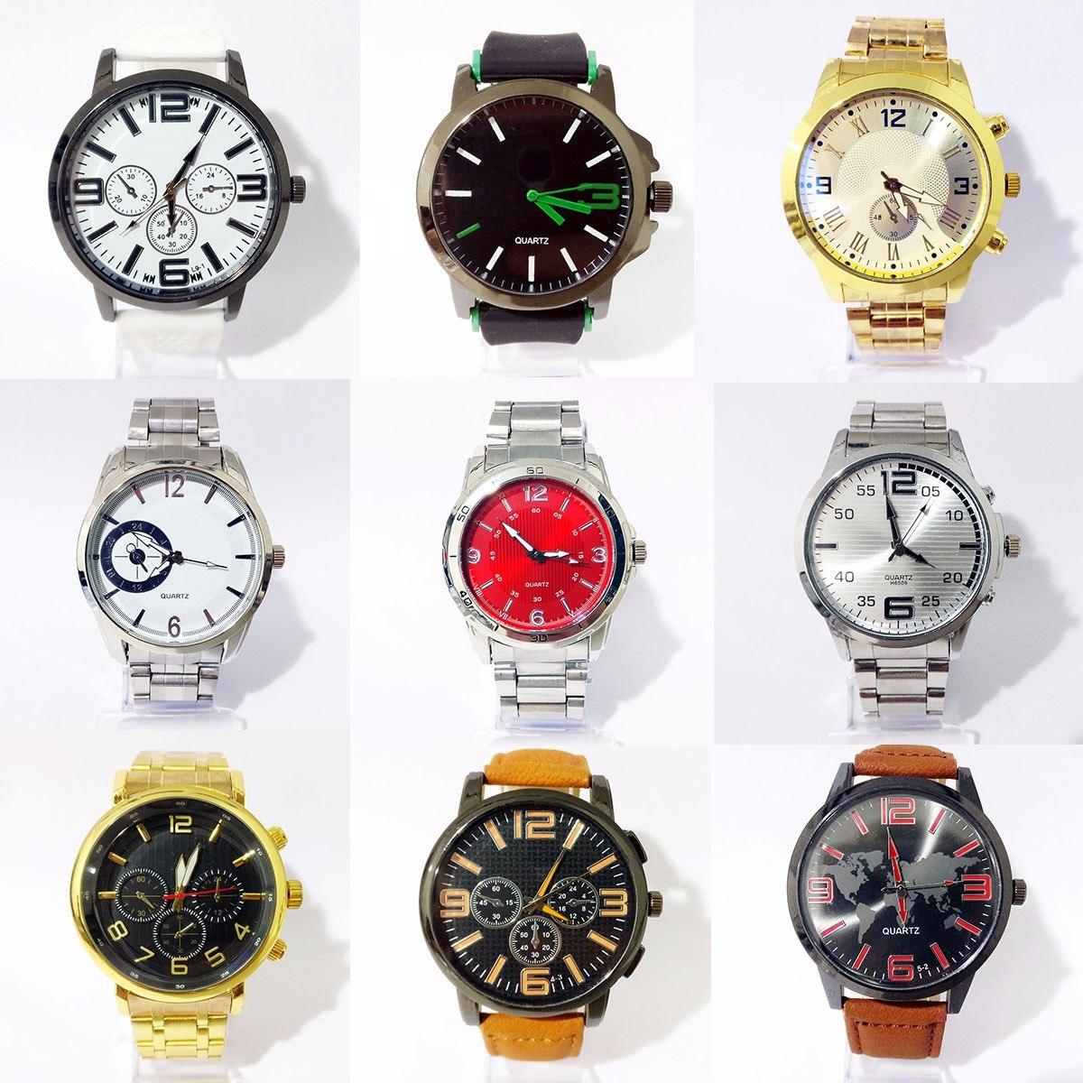 d83290977b2 kit 20 relógios masculinos grandes atacado revenda lote. Carregando zoom.