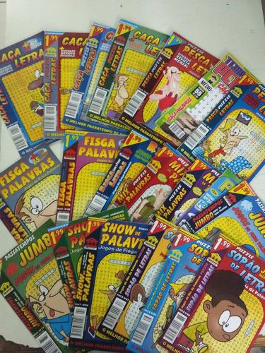 kit 20 revistas  caça palavras passatempos sortidas