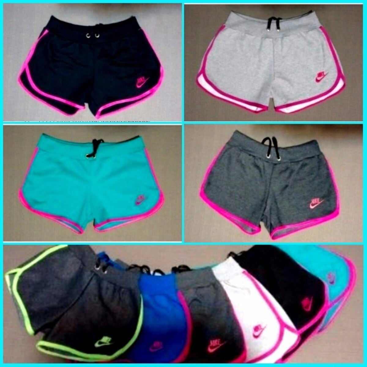 Kit 20 Shorts Feminino Moleton 100 Algodão Nike Revenda
