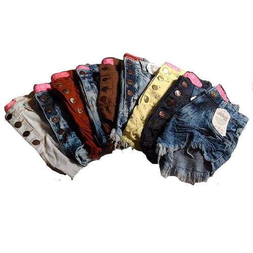 kit 20 shorts jeans femininos cintura alta hot pants atacado