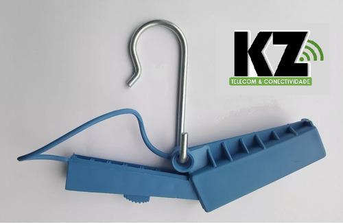 kit 200 esticador fibra drop óptico abertura lateral azul