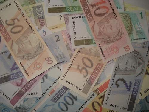kit 200 notas de dinheiro de brinquedo para festa infantil