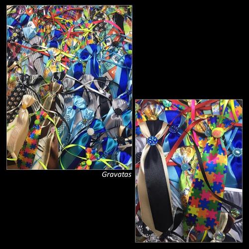kit 200 pet shop: laços, gravatas, laços pescoço + brinde