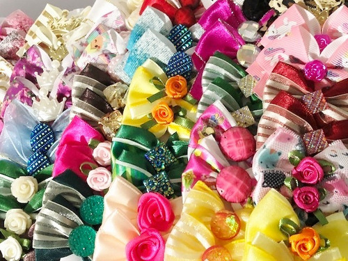 kit 200 pet shop,laços,gravatas,laços pescoço + brinde