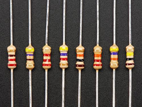 kit 200 resistores valores variados cr25 1/4 de watt