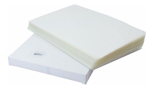 kit 200 unidades plastico para plastificar a4 220x307x0,05mm