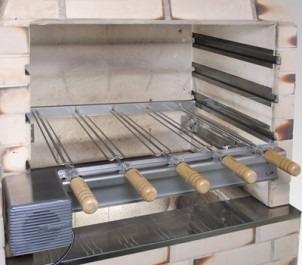 kit 2004 s p/ churrasqueira pre moldada 4 espetos giragrill