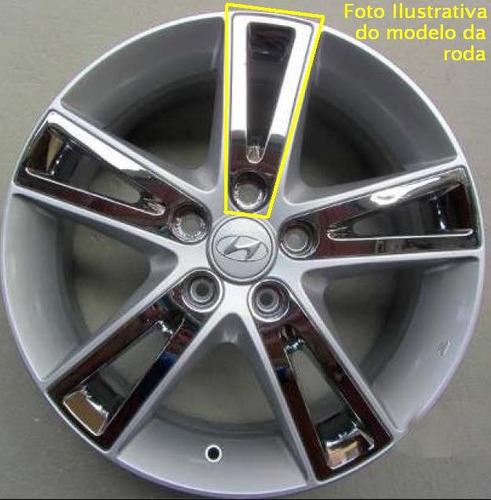 kit 20pçs aplique roda liga cromado hyundai i30 2009 a 2012