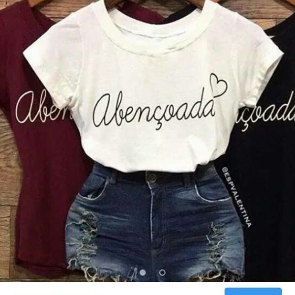 38d1ff8d2b Kit 20t-shirts Linda Blusas Feminina Roupas Atacado Revenda - R  237 ...