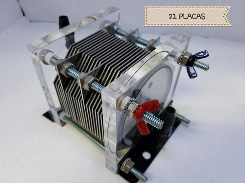 kit 21 placas 8 cil hho hidrogeno ahorrador gasolina 10 años
