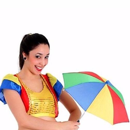 kit 22 mini sombrinha frevo enfeites festa carnaval aeio@