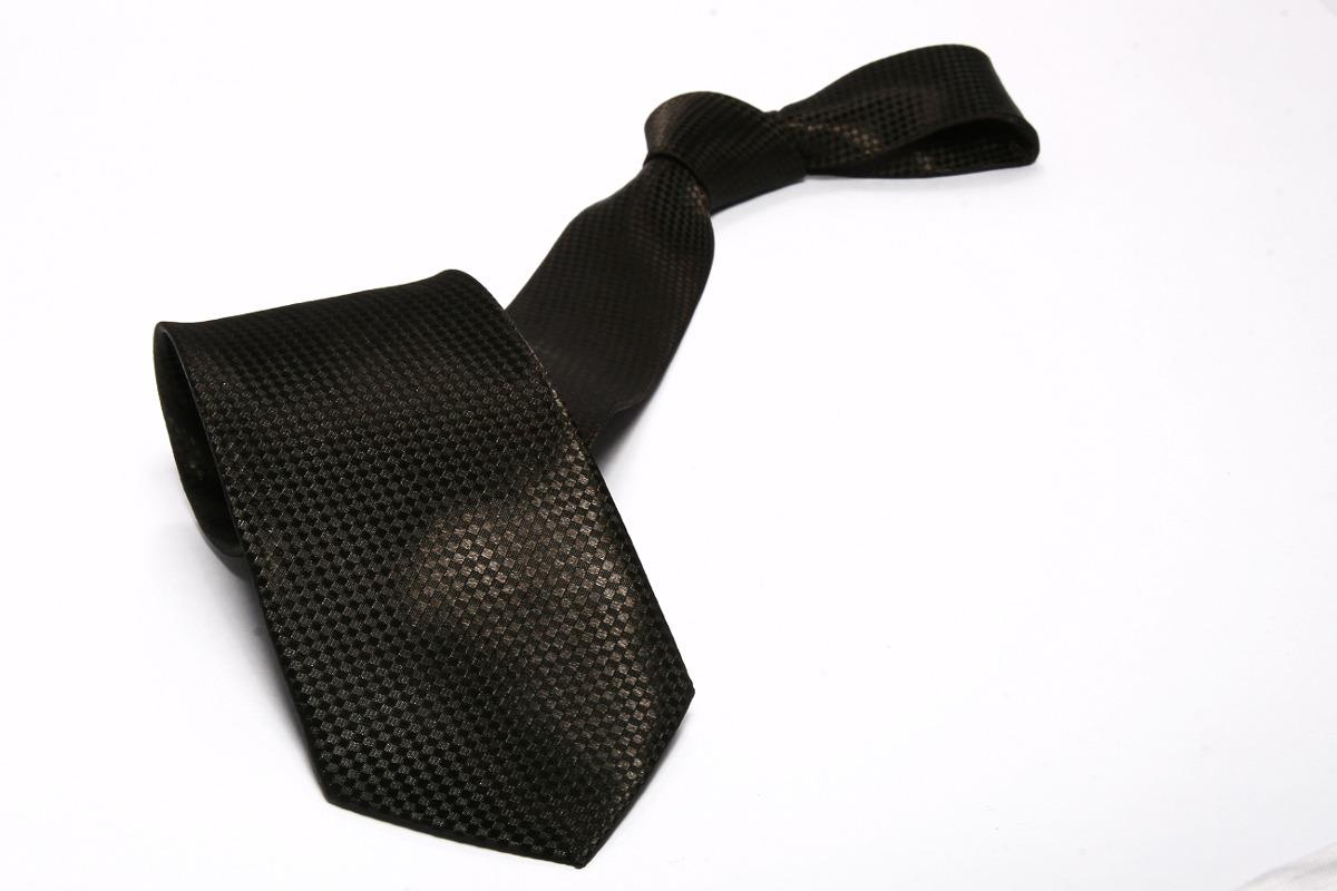 571faec0739 ... gravata preta semi slim sem nó com detalhes. Carregando zoom.