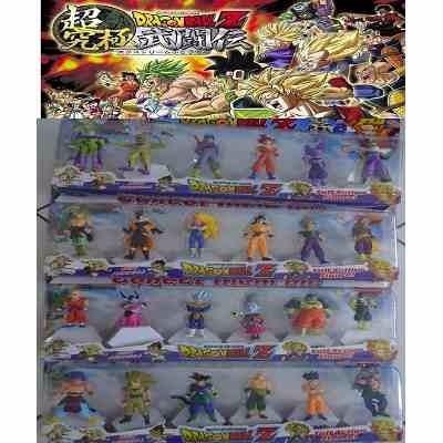 kit 24 bonecos dragon ball dragonball z anime mangá com base