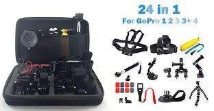 kit 24 en 1 accesorios go pro hero completo gopro