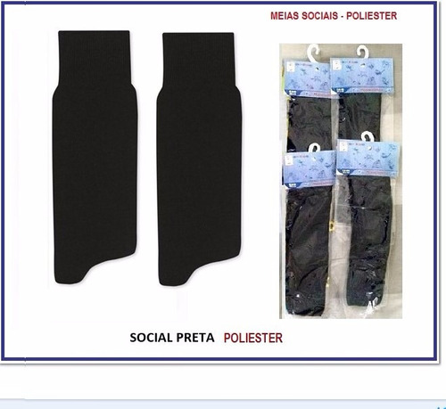 kit 24 pares meia social tradicional (04 cores)
