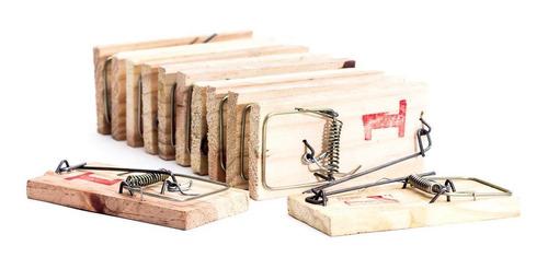 kit 24 ratoeiras madeira pequena pacote com 12 peças n°1